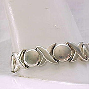 Sterling Silver Bracelet, Earrings - Cool Design