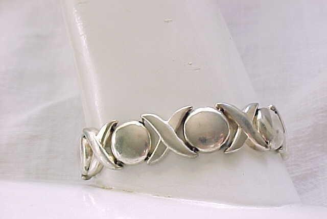 Sterling Silver Bracelet, Earrings - Cool Design