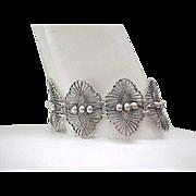 Sterling Silver Bracelet - Pretty Open Work Design