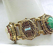 Superb Victorian Revival Bracelet - Ornate, Many Elements