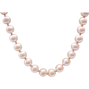 Miriam Haskell Faux Pearl Necklace - Clasp and Hang Tag