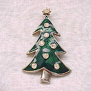 06 - Enamel and Rhinestone Christmas Tree by Lia