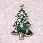 06 - Enamel and Rhinestone Christmas Tree by Lia