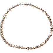 "Sterling Silver Bead Necklace - 18"" Long"