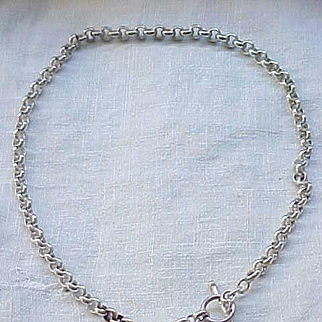Marvelous Sterling Chain with Heart Charm - Removeable
