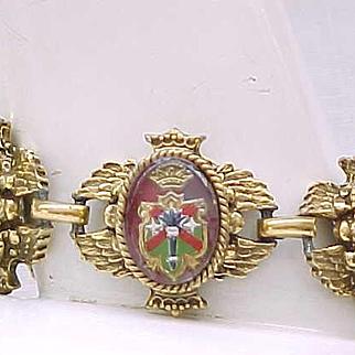 Fabulous Bracelet, Earrings - Heraldic, Coat of Arms, Lion Passant
