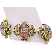 Fabulous Bracelet, Earrings - Heraldic, Coat of Arms, Lion Passant