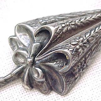 08 - Lovely Sterling Silver Parasol Pin - Lang - Umbrella
