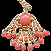 Egyptian Revival Phoenix Necklace - Mythological Figure
