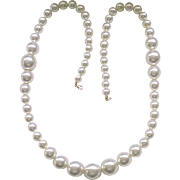 06 - Long and Chunky Faux Pearl Necklace