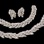 Outstanding Elegant Ledo Necklace, Bracelet, Earrings - Diamante Rhinestones - Bridal, Special Occasion