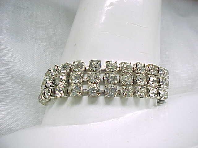 Glitzy Rhinestone Bracelet - Czechoslovakia