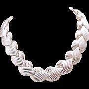 10 - Chunky Napier Silvertone Necklace - Outstanding Design
