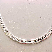 Elegant to Every Day -  Sterling Silver Necklace - 34 grams