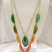 Chunky Bakelite Necklace - Earth Colors