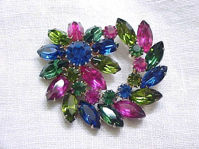 Spectacular Rhinestone Pin - Vibrant Colors