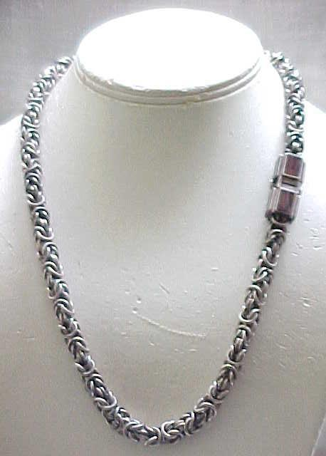 Spectacular Sterling Necklace, Clasp - 115 Grams
