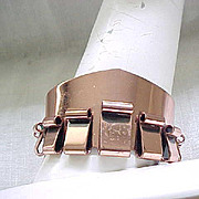 Cool Renoir Copper Bracelet, Signed