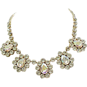 Huge Weiss Rhinestone Necklace - Runway