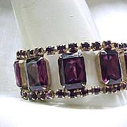 11 - Spectacular Runway Rhinestone Bracelet - Purple