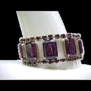 Spectacular Runway Rhinestone Bracelet - Purple