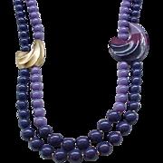 Asymmetrical Kunio Matsumoto Necklace - Shades of Purple