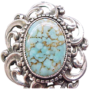 Classic Danecraft Sterling and Turquoise Pin/Pendant