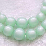 Pretty Pale Green Moonglow Necklace - 2 Strands