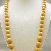 Long Butterscotch Bakelite Necklace