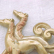 07 - Pair of Elegant Borzoi Russian Wolfhounds Pin