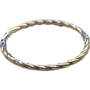 07 - Lovely Sterling Silver and Gold Filled Bracelet