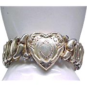 Exceptionally Nice Sweetheart Expansion Bracelet - Phoenix by Speidel