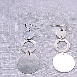 06 - Sterling Earrings - Trio of Circles - Pierced Ears