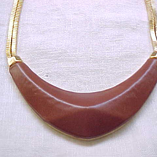 Vince Camuto - High End - Leather and Goldtone Necklace