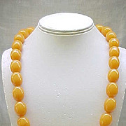 Fabulous Butterscotch Bakelite Necklace - Huge Beads