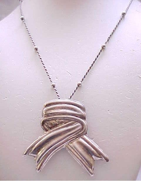 Large Sterling Silver Pin/Pendant with Sterling Chain