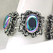 Luxurious Bracelet - Very Unusual Art Glass Stones - Elizabeth Morrey