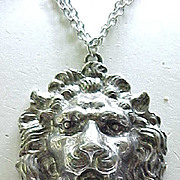 Huge Yochi Lion Pendant Necklace