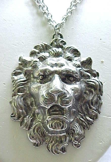 Huge Yochi Lion Pendant Necklace