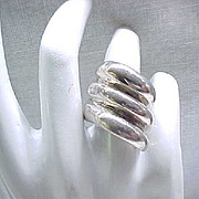 Sterling Silver Modernist Ring - Size 7 - Outstanding