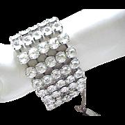 03 - Glamorous Rhinestone Bracelet - Mega Glitz - Bridal, Special Occasion