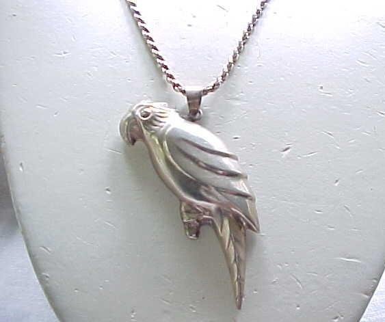 Sterling Silver Parrot on Sterling Chain
