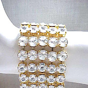Mega Glitz Rhinestone Bracelet - New Old Stock