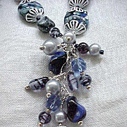 04 - Spectacular Artisan Necklace, Earrings - Vintage Venetian Glass Beads - One of a Kind