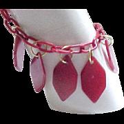 10 - Bakelite Charm Bracelet - Red