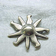 Fanciful Sterling Pin - Signed