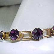 1940's Deco Rhinestone Bracelet