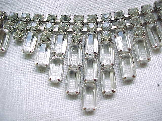 Beautiful Rhinestone Bib Necklace - Bridal