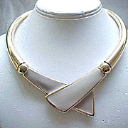 Sleek Napier Beige & Taupe Necklace - Modernist