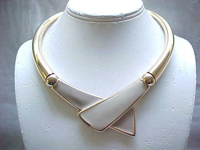Sleek Napier Beige & Taupe Necklace - Modernist